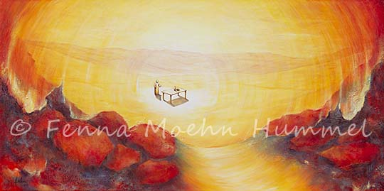 painting biblical The Invitation | by Bible verse Text Revalation. dutch artist Fenna Moehn Hummel