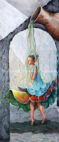 Bible verse paintings Atelier for Hope | inspired by christian faith |by isaiah festive clothes in stead of mourning