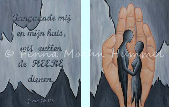 Biblical paintings Atelier for Hope | inspired by christian faith | blessing hand of God