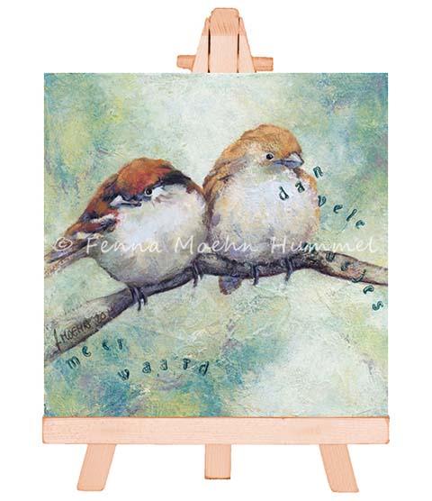 Significant Art painting More value than many sparrows | Atelier for Hope Doetinchem Fenna Moehn Hummel
