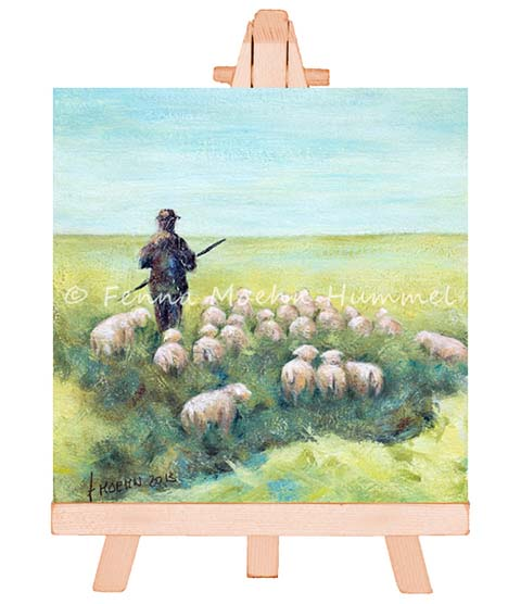 Significant Art painting The Lord is my Shepherd | Atelier for Hope Doetinchem Fenna Moehn Hummel