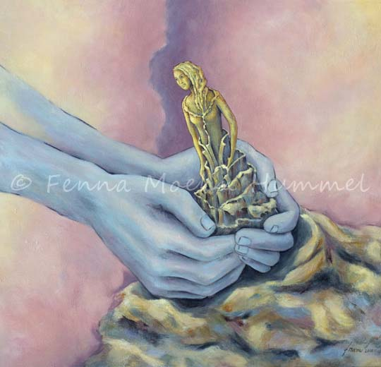 Biblical Paintings In the Potters Hand by Isayah 64 verse 6, Dutch Artist Fenna Moehn Hummel Atelier for Hope