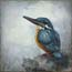 Miniature Painting Kingfisher I Atelier for Hope paintings