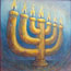 Painting miniature The Lampstand Menorah Candle Atelier for Hope Biblical Art