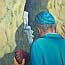 Atelier for Hope Paintings | Biblical -Jewish Man Jerusalem | by Fenna Moehn Hummel