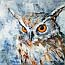 Atelier for Hope Netherlands | paintings animal&flowers | painting owl